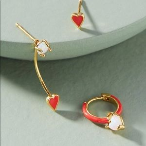 NWT Love at First Sight Heart Earrings